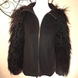 ZARA Basic Fur Jacket | Sz.S